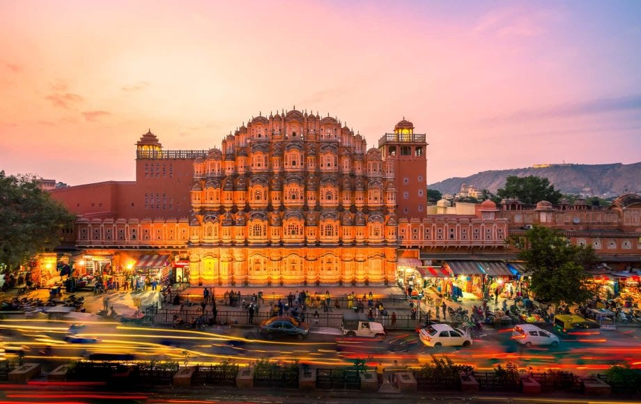 Jaipur Sunset and Busy Street Views