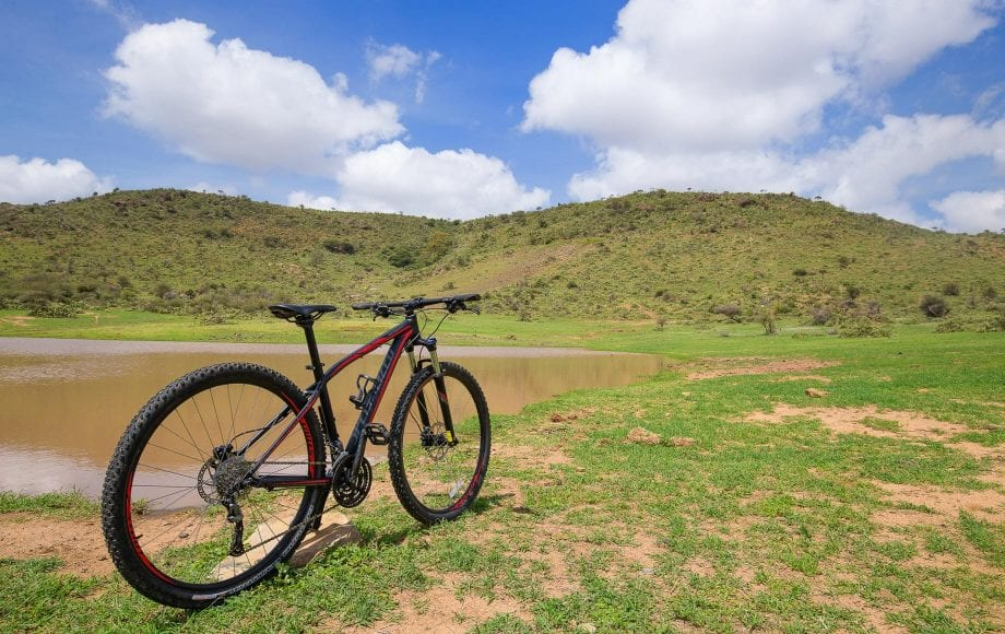 Bike riding in Laikipia Plateau