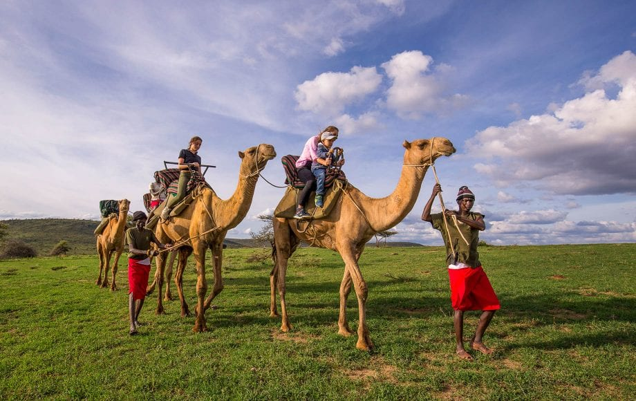 Laikipia Plateau Safari Moments with camelback ride