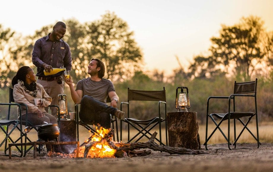 Camp fire at Moremi Game Reserve