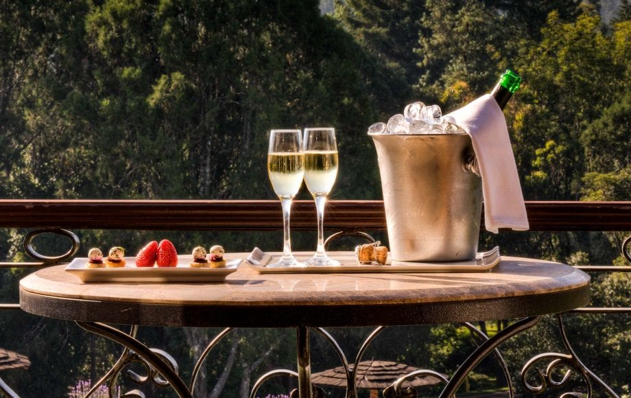 Champaign during the day at Mount Kenya