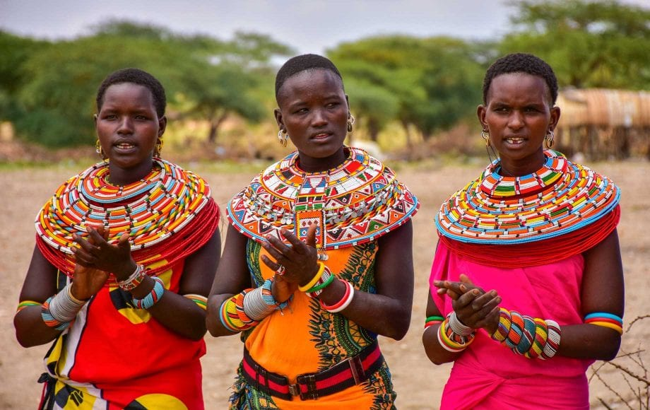 Beautiful ladies with colorful clothing Samburu National Reserve