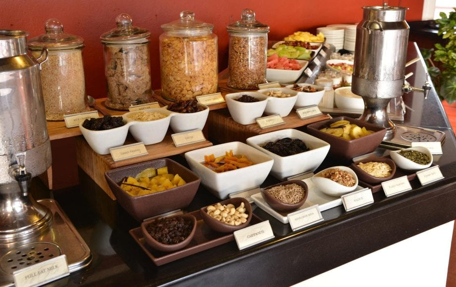 Food served in Victoria Falls Hotel