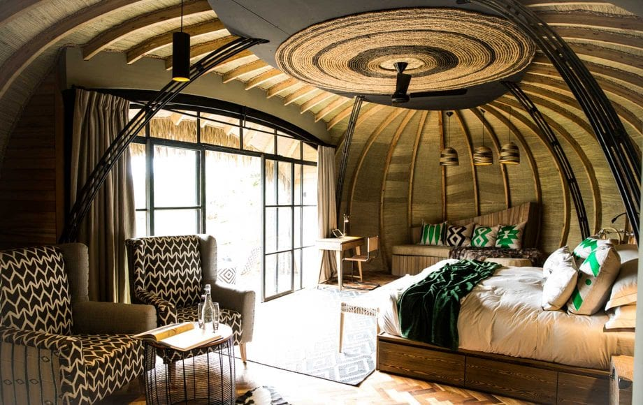 Relaxing Hotel Room with Lighting at Bisate Lodge in Africa