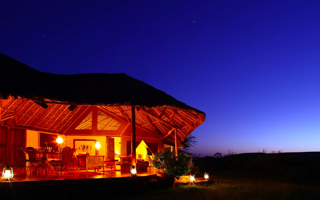Dusk in Africa at a Lodge
